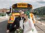 Ines' und Christians Hochzeit (Bus, Torte und Falken)