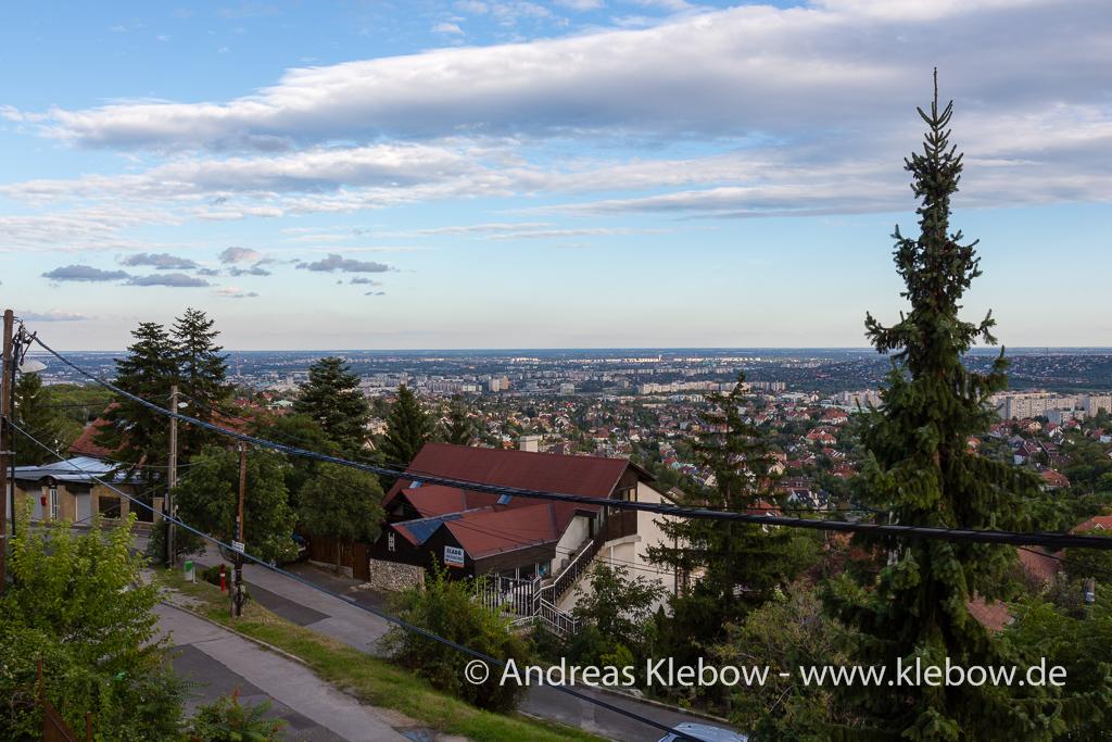 Blick vom Hotel Budai
