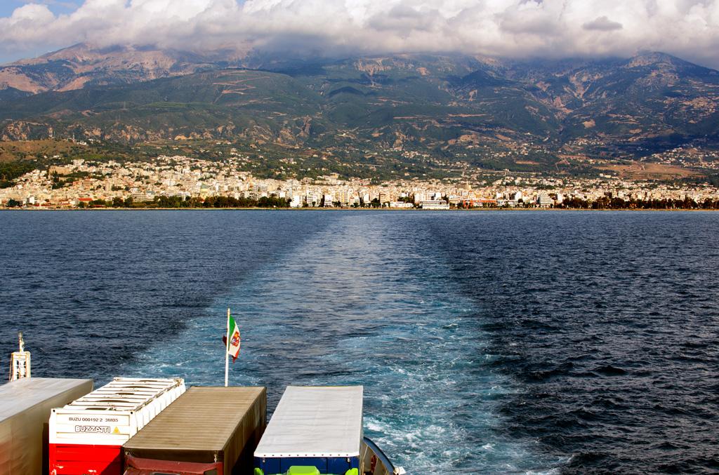 Blick zurück auf Griechenland