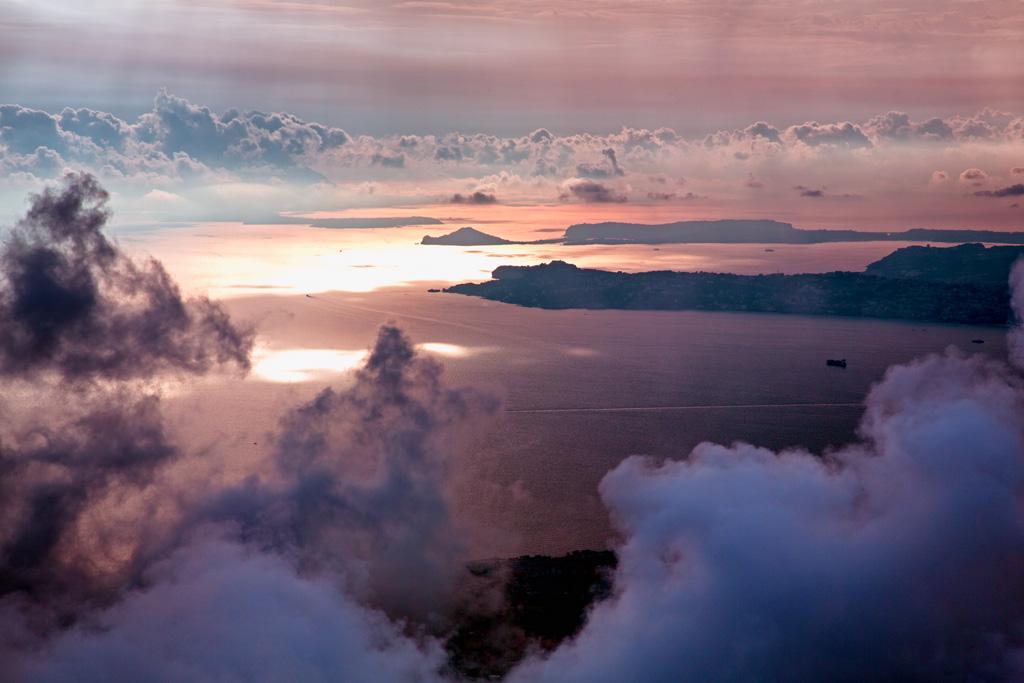 Blick vom Vesuv auf den Golf von Neapel